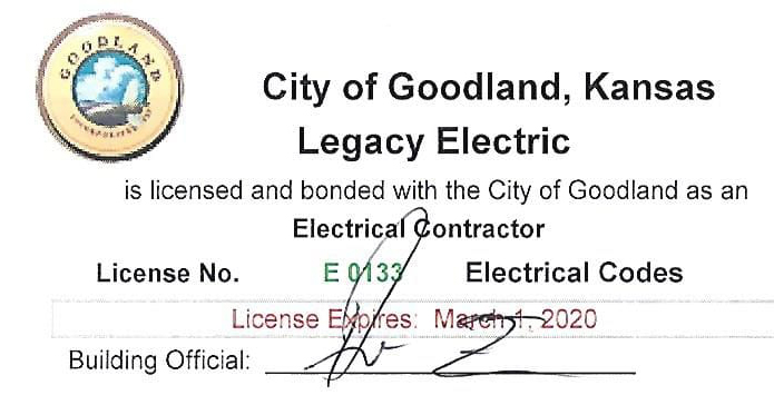 Certified Electrical Contractor in Goodland,KS